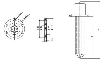 SRY2-3 管状电加热器